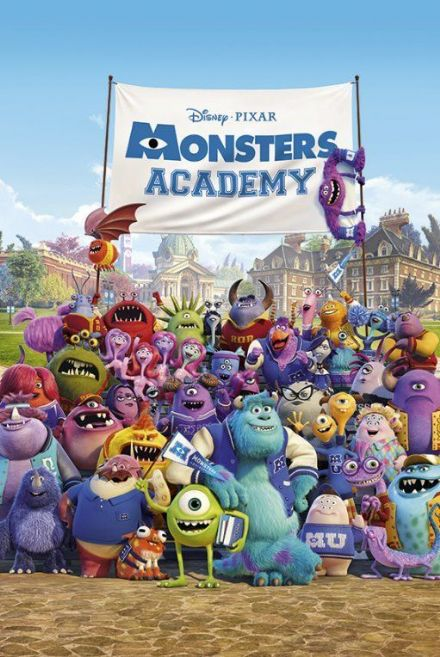 Monstrr's University Mike And Sulley 61x91,5cm Poster